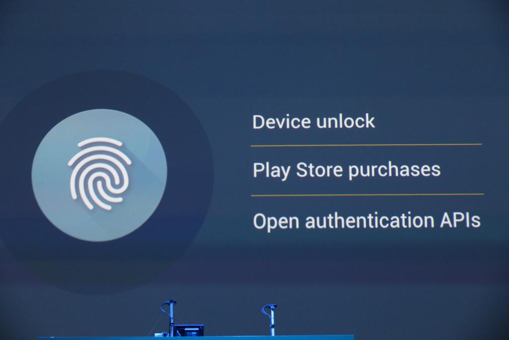 Android M получит поддержку сканера отпечатков пальцев