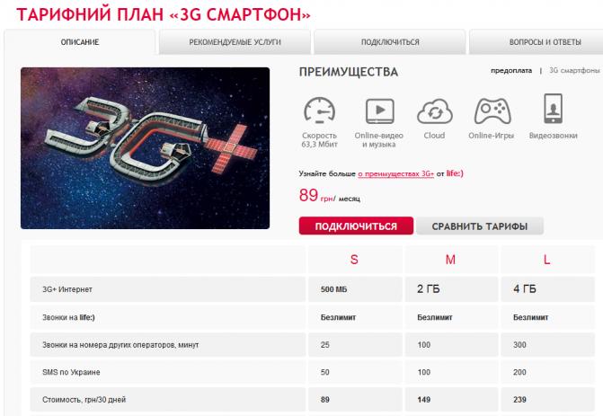 life) 3g smartphone