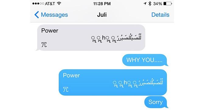 Ошибка в iOS вызывает сбой смартфона и приложения Messages при получении определённого сообщения