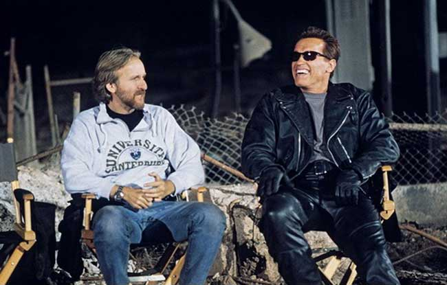 James-Cameron-and-Arnold-Schwarzenegger-on-the-set-of-Terminator-2-Judgment-Day