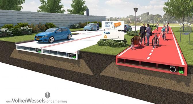 В Голландии разработали проект высокоэффективных пластиковых дорог