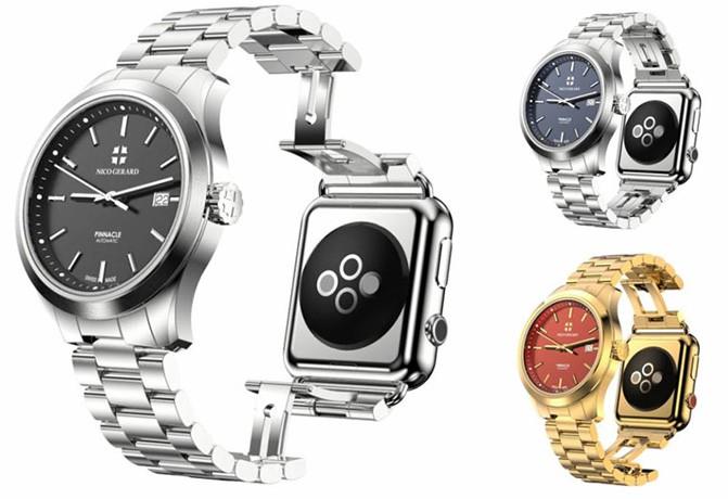 В Nico Gerard объединили механические часы и Apple Watch в одном браслете