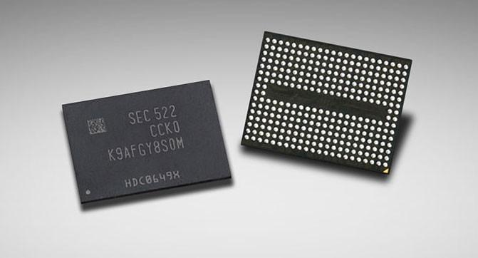 Samsung начала массовое производство первых в отрасли 48-слойные чипы памяти 3D V-NAND ёмкостью 256 Гбит