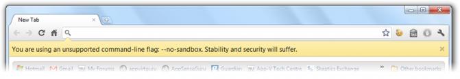 GoogleChromeNoSandbox