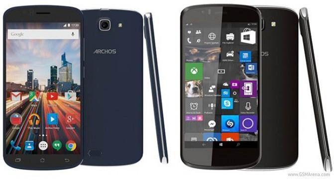 Archos анонсировала три новых смартфона, в том числе модель с Windows 10