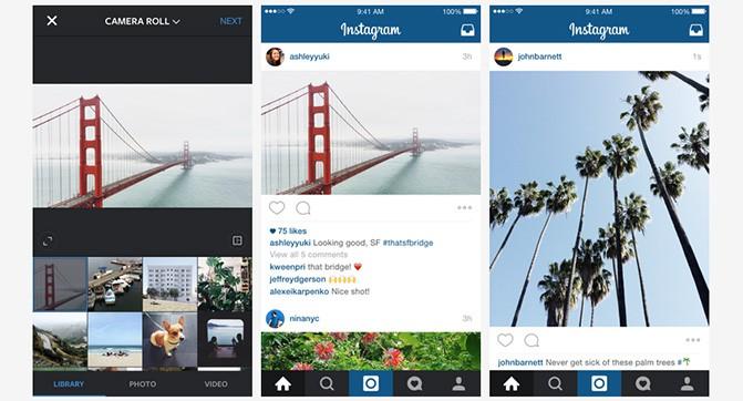 Instagram отменяет привязку к квадратной форме фотографий и видео