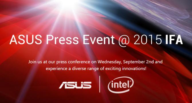 ASUS Press Event @ 2015 IFA