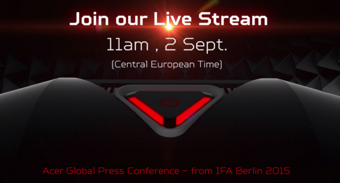 Acer Global Press Conference IFA 2015