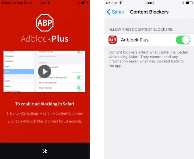 AdBlock Plus arrives on iOS and Android, murders ads on