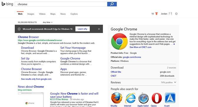 Microsoft рассказывает о преимуществах Edge, когда пользователи ищут Chrome и Firefox в Windows 10