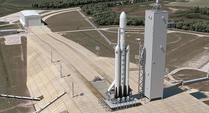 Тестовый запуск тяжелой ракеты SpaceX Falcon Heavy запланирован на весну 2016 года