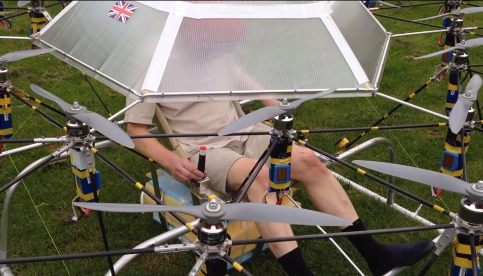 Квадрокоптер для полета человека своими руками