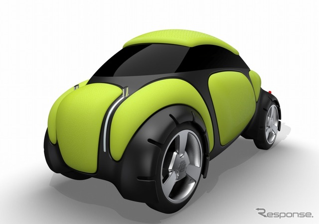 Концепт автомобиля Flesby оснащается внешними подушками безопасности