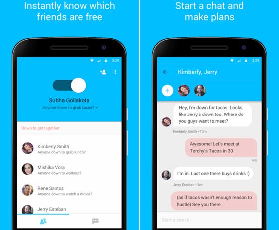 Google выпустила приложение Who's Down, позволяющее найти друзей для общения