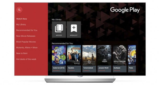 LG Smart Google Play Movies & TV
