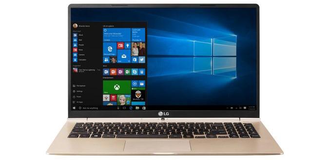 Компания LG презентовала инновационный 15-дюймовый ноутбук