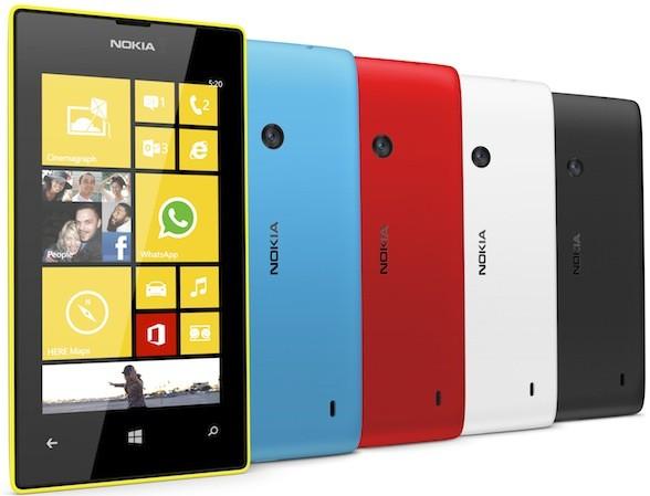 Самым популярным смартфоном с Windows Phone является модель 3-летней давности Nokia Lumia 520