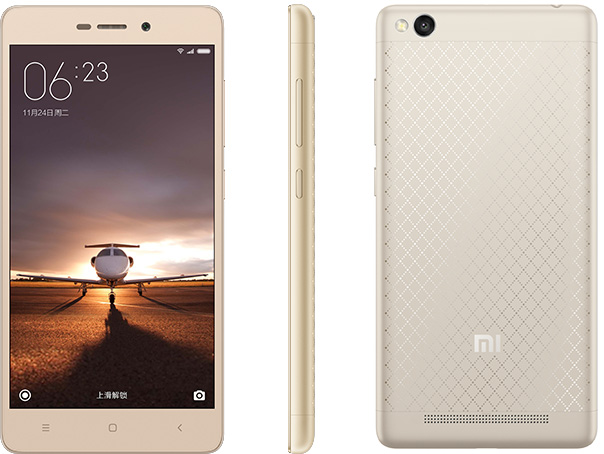 Смартфон Xiaomi Redmi 3 представлен официально: 5 дюймов, 2 ГБ ОЗУ, 4100 мАч и металлический корпус за $106