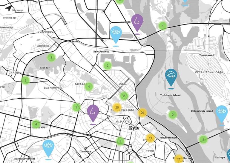 Украинский сервис Map me happy расскажет о позитивных местах в городе