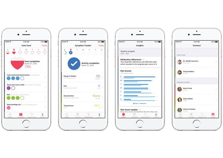 Apple анонсировала платформу CareKit, которая позволит создавать более функциональные приложения для заботы о здоровье