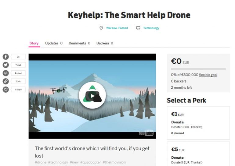 Украино-белорусский стартап собирает €300 тыс на умный дрон-спасатель