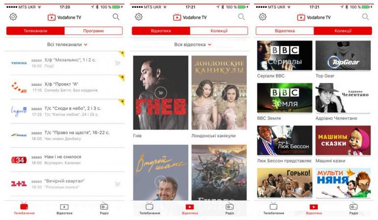 Vodafone-TV-screen