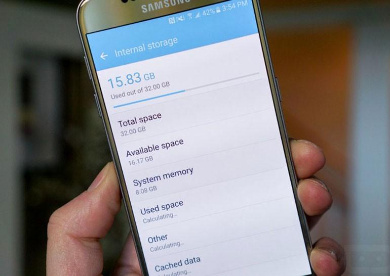 Android и TouchWiz занимают 8 ГБ хранилища на смартфоне Samsung Galaxy S7