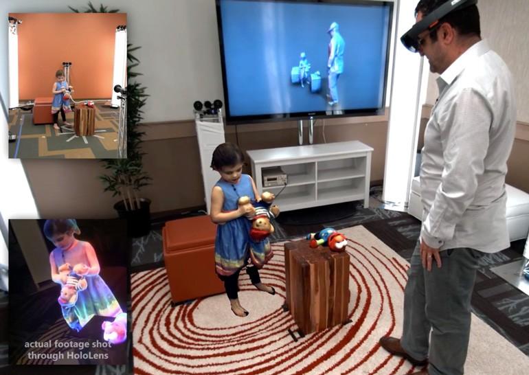 Microsoft продемонстрировала возможности своего нового проекта по созданию виртуальных изображений собеседников - Holoportation