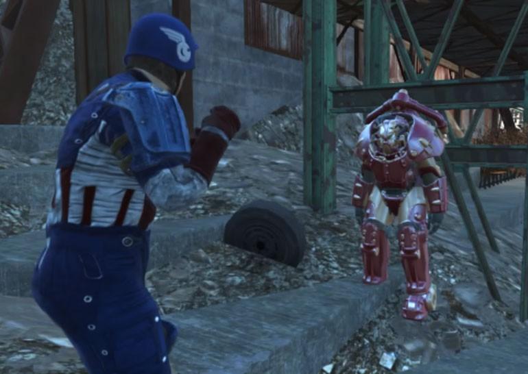 Фанат воссоздал трейлер фильма «Первый мститель: Противостояние» в игре Fallout 4