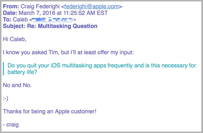 Apple напоминает: принудительное завершение работы приложений не помогает увеличить продолжительность автономной работы iOS-устройств