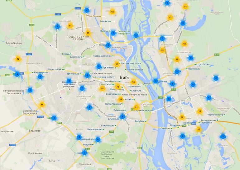 В Киеве запустили интерактивную карту парковок