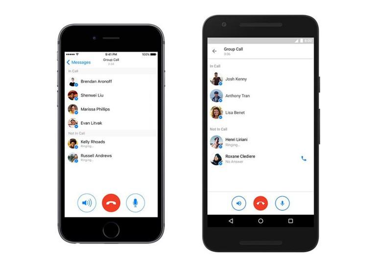 В Facebook Messenger добавлена поддержка групповых звонков
