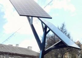 В Тернополе установили первое в Украине «солнечное дерево» для зарядки гаджетов