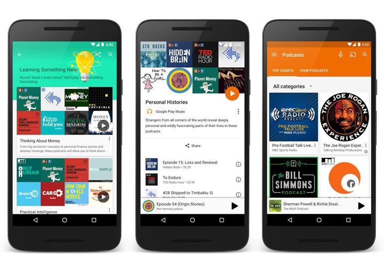Google добавила подкасты в Google Play Music