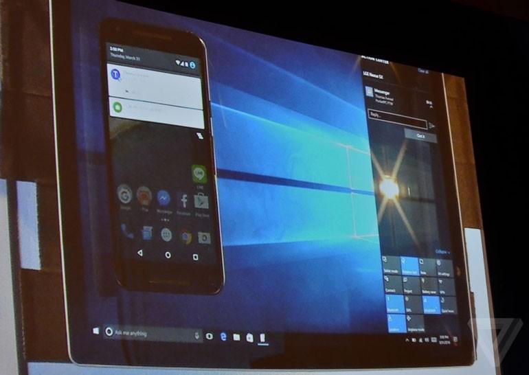 Windows 10 позволит просматривать на компьютере уведомления с Android-смартфонов