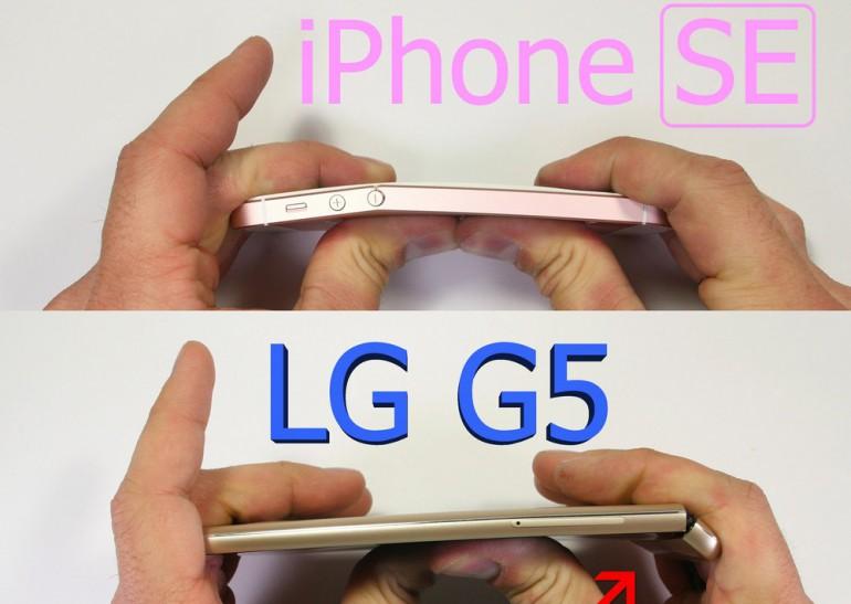 iPhone SE & LG G5
