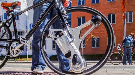 На выпуск моторизованного колеса GeoOrbital, превращающего обычный велосипед в электрический, уже собрано в девять раз больше средств, чем планировалось