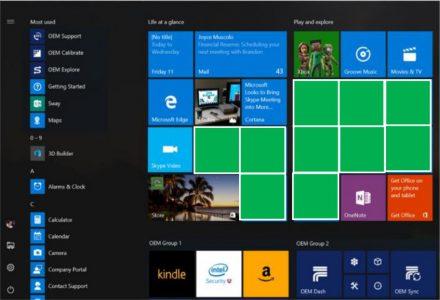 В Windows 10 количество рекламируемых приложений в меню Пуск увеличится с пяти до десяти