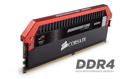В набор Corsair Dominator Platinum DDR4 ROG Edition вошли четыре модуля памяти DDR4-3200 объемом по 4 ГБ