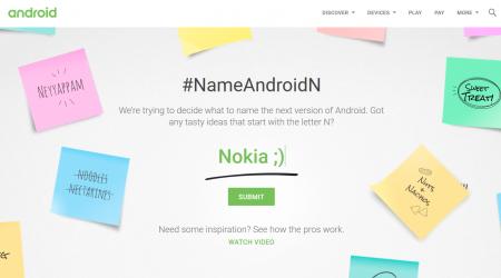 I/O 2016: Google запустила специальный сайт, на котором каждый может предложить свой вариант названия Android N