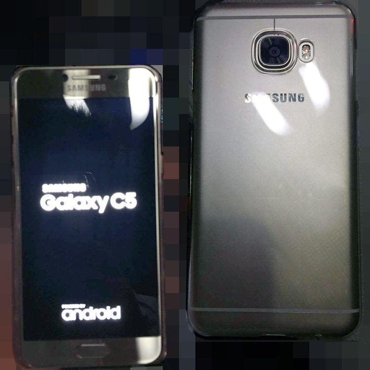 Появились фотографии и некоторых характеристики смартфона среднего уровня Samsung Galaxy C5