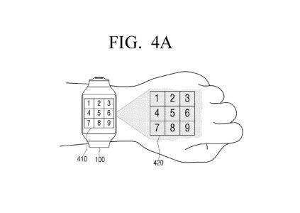 Samsung запатентовала умные часы, которые могут проецировать интерфейс на руку пользователя