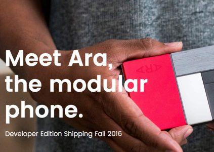 Google выпустит собственный смартфон на базе концепции модульного устройства Project Ara