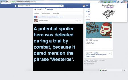 Расширение Game of Spoils для Chrome блокирует спойлеры «Игры престолов», заменяя их шутками