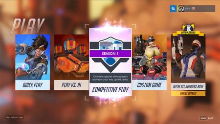 В игре Overwatch появился новый режим «Соревновательные матчи»