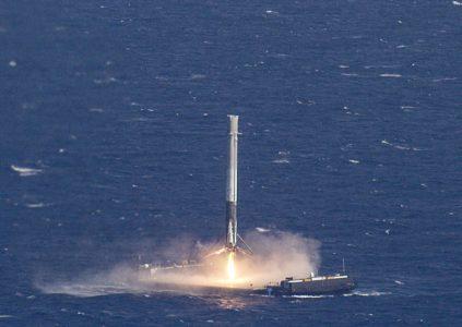 Илон Маск показал видео неудачной попытки посадки первой ступени ракеты Falcon 9
