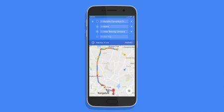 В Google Maps для Android появилась возможность строить маршрут через несколько точек