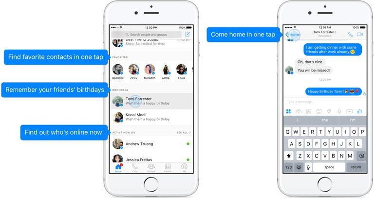 Facebook обновила домашний экран Messenger, чтобы пользователям было проще начинать общение
