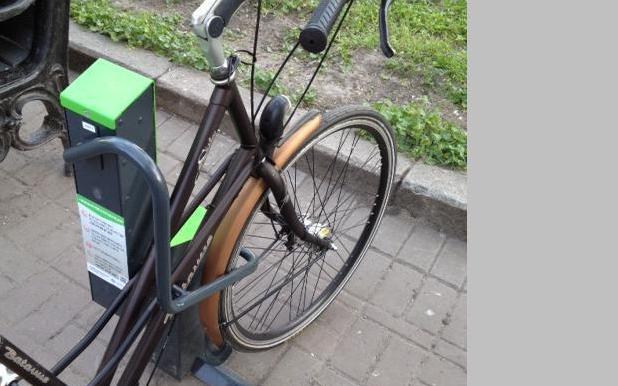 В Киеве появилась бесплатная «умная» велопарковка