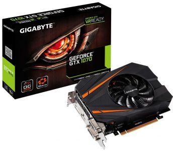 Видеокарта Gigabyte GeForce GTX 1070 Mini ITX OC получила укороченную печатную плату и повышенные частоты GPU